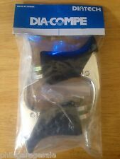 New Pr Dia-Compe BL07 Aero Road Bicycle Brake Levers Silver Black Hoods Ferrules