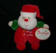 "7"" PRESTIGE BABY SANTA CLAUS CHRISTMAS RATTLE STUFFED ANIMAL PLUSH TOY NEW TAG"