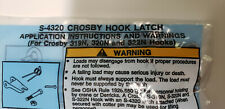 4030-21-896-0733 LATCH KIT SAFETY - Crosby Hook Latch S-4320   (4 units)