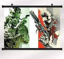 metal gear solid 4 Game Fabric poster with wall scroll Home Decor 60*40cm