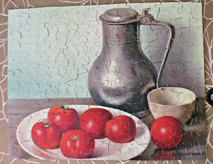 """Vintage Guild Picture Puzzle Series #102 """"Tomatoes With Ewer"""" Complete, 1940's"""