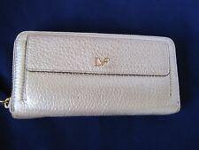 DVF Diane Von Furstenberg Gold Wallet Zip Around