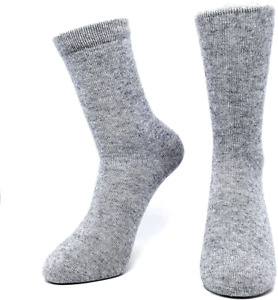 Pure Cashmere Women Men Unisex Crew Mid-Calf Causal Thick Socks, Bed Socks,Toes