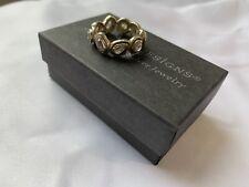 Brilliance Eternity Ring R2807 Sz7 Rare Silpada Sterling Silver Cubic Zirconia
