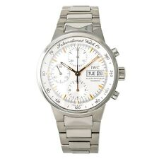 IWC GST Chronograph IW3707-13 Mens Automatic Watch Silver Dial SS 40mm