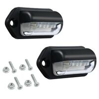 Number Plate Lights Led License Plate Light Rear Lamps Universal 12v 24v Fo O6J5