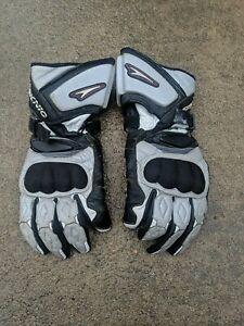 TEKNIC Leather Motorcycle Gloves Kelvar Carbon Fiber- gauntlet 2xl xl