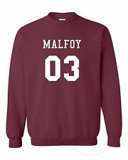 MALFOY 03 Funny HarryPotter Magic Fangirl Fashion Unisex Crewneck Sweatshirt Top