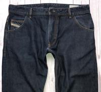 Mens DIESEL Krooley Jeans W34 L34 Dark Blue Regular Slim Carrot Wash 0088Z