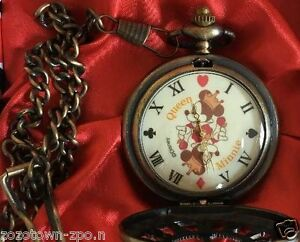 New Disney Mickey Minnie Limited Pocket Watch Japan Licensed Free Shipping