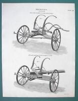 CARRIAGE Coach Fore Wheels - 1820 ABRAHAM REES Print