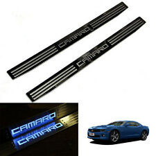 For GM Chevy Chevrolet Camaro 10-15  LED Door Sill Scuff Plate Cover 2pc Blue