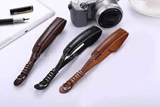 Light Brown PU Leather Camera Hand Wrist Strap For Canon Nikon Olympus Panasonic