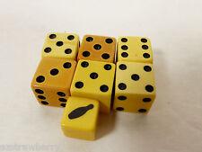 VTG 1930's  Set of 7 Bakelite Dice small Bowling Pin Dice