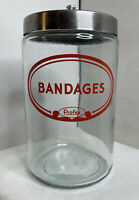 Vintage Profex Apothecary Bandages Glass With Lid