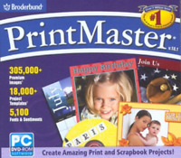 Broderbund PrintMaster Design Tools Software Version 18.1 (DVD-ROM)