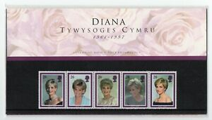 GB 1998 Princess Diana Welsh Presentation Pack with insert VGC. Stamps