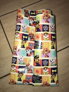Official Licensed Paw Patrol Gift Wrapping Paper Sheet 4m x 69cm  FREE POSTAGE.