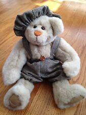 """Boy Handmade Plush 15"""" Fully Jointed Bear by Penny French"""