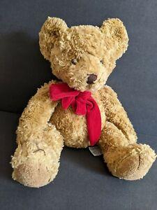 "RUSS Bombay GILMORE THE SOFT TAN TEDDY BEAR 16"" Plush STUFFED ANIMAL Toy red"