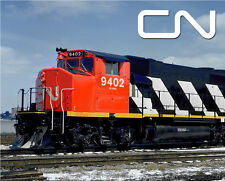 Canadian National GP40-2LW Train Sturdy Metal Sign Logo Photo
