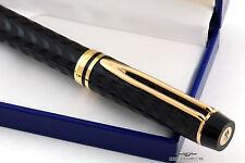 Waterman LeMan 100 Opera Black Chased Fountain Pen - Vintage Stock - EF Nib