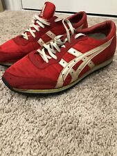 Vintage 80's Japan Asics Running Shoes Sz 6.5 Very Rare Red & Pearl