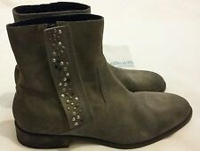 Zadig & Voltaire Men's Distressed Suede Studded Ankle Boots size uk 11 eu 45