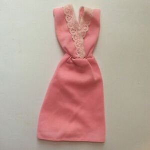 Barbie doll Pink and White Dress vintage dolls clothes