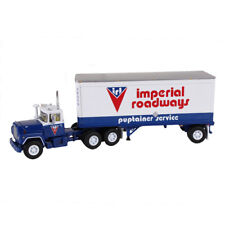 60-0265 1st First Gear Mack R Model 'Imperial Roadways Ltd w/28 Pup Trailer 1:64