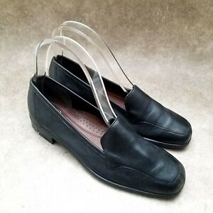 Naturalizer Womens Stockard  Sz 7.5 N Black  Leather Slip On Loafer