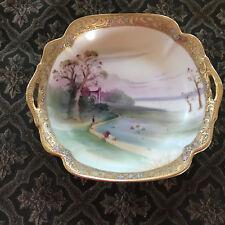"Vintage Hand Painted Morimura Bros Nippon 7-1/4"" Bowl w/Handles Gold Gilt (NF)"
