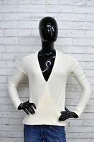 Maglione Donna HOLLISTER Taglia Size S Pullover Cardigan Sweater Woman Bianco