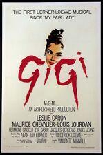 GIGI LESLIE CARON MAURICE CHEVALIER BEST PICTURE OSCAR WINNER 1958 1-SHEET LINEN