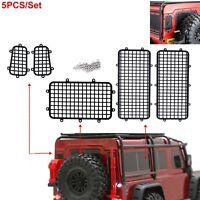 5X Metall Fence Window Mesh Schutz Für TRAXXAS TRX4 TRX-4 1/10 RC Auto Crawler