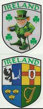 Set of 2 Ireland Irish Shield Shape Internal Car Window Sticker Decals