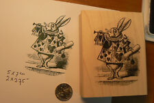 Alice in Wonderland's Herald rabbit rubber stamp WM P6