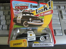 DISNEY PIXAR CARS SHERIFF LENTICULAR LOOK MY EYES CHANGE