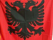 BANDIERA ALBANESE ALBANIA ECONOMIC ALBANIAN FLAG ROSSA ECONOMICA MISURE 95x135