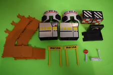 Micro Machines Playset Accessories Lot Marina Airport Stop Sign Etc