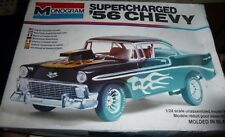 MONOGRAM 1956 CHEVY SUPERCHARGED 1979 1/24 MODEL CAR MOUNTAIN OPEN