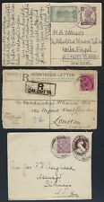 INDIA 1900 80s COLLECTION OF 12 POSTAL HISTORY INCLUDING TRAVANCOR +QUEEN VICTOR