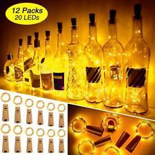 12 Pcs Wine Bottle Lights with Cork LoveNite Battery Operated 20 LED Cork Shape