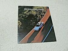 1986 MITSUBISHI CORDIA (USA) SALES BROCHURE.