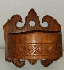 Vintage Wood Carved Hanging Trinket Tray/Dish