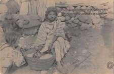Madrid Spain view of female flour vendor at market antique pc Z30204