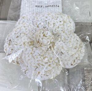 Chanel Kamelie Blüte weiss Pailletten Camellia VIP GIFT