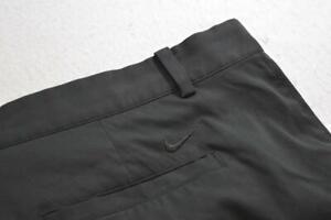 Nike Golf Shorts Dri Fit Performance Black Flat Athletic Stretch Mens Size 46