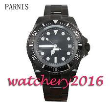 42mm Parnis black dial PVD luminous date adjust automatic movement Men's watch