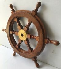 "Nautical 30"" Wooden Ship Wheel Home Wall Decor Captain Boat Ship Steering Wheel"